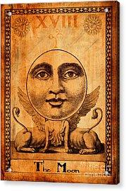 Tarot Card The Moon Acrylic Print