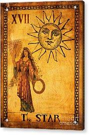 Tarot Card The Star Acrylic Print