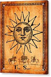 Tarot Card The Sun Acrylic Print