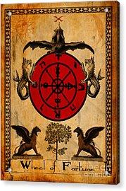 Tarot Card Wheel Of Fortune Acrylic Print