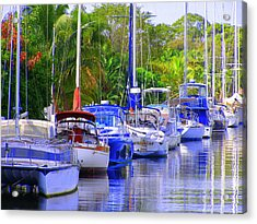 Acrylic Print featuring the photograph Tarpon River by Artists With Autism Inc