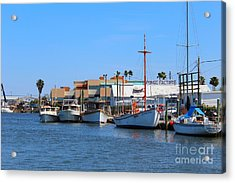Acrylic Print featuring the painting Tarpon Springs Boats by Jeanne Forsythe