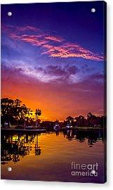 Tarpon Springs Glow Acrylic Print by Marvin Spates
