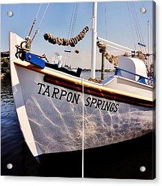 Tarpon Springs Spongeboat Acrylic Print by Benjamin Yeager