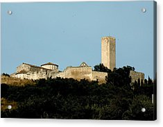 Tarquinia Landscape With Tower Acrylic Print
