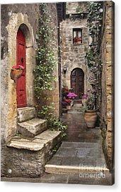 Tarquinian Red Door Acrylic Print