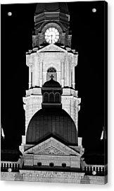 Tarrant County Courthouse Bw V1 020815 Acrylic Print