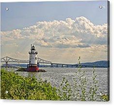 Tarrytown Lighthouse And Tappan Zee Bridge Sleepy Hollow Ny Acrylic Print
