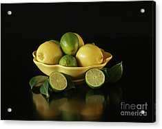 Tart And Tasty With Lemon And Lime Acrylic Print by Inspired Nature Photography Fine Art Photography