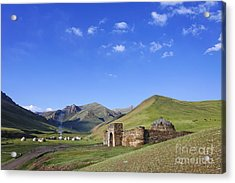 Tash Rabat Caravanserai In The Tash Rabat Valley Of Kyrgyzstan  Acrylic Print by Robert Preston