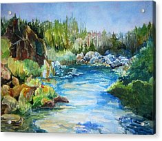 Tasmania River Acrylic Print