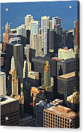 Taste Of Chicago From Above Acrylic Print by Christine Till