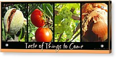 Taste Of Things To Come Photo Collage Acrylic Print