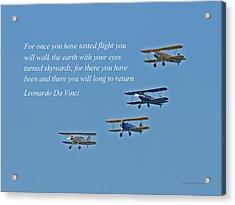 Tasting Flight Acrylic Print by Jonathan E Whichard