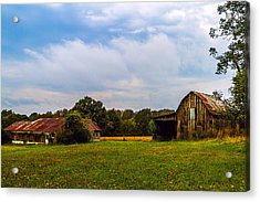Tate Country Barns - Rural Landscape Acrylic Print by Barry Jones