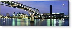 Tate Modern And Millennium Bridge Acrylic Print by Rod McLean