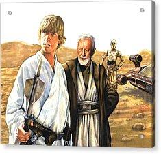 Tatooine Massacre Acrylic Print by Edward Draganski