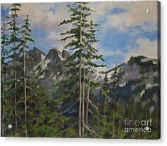 Tatoosh Mountains In Cascades Acrylic Print by Karen Olson