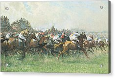 Tattenham Corner The Epsom Derby Acrylic Print