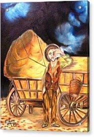 Tattered Canvas Aka Romani Messiah Acrylic Print