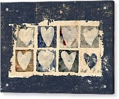 Tattered Hearts Acrylic Print