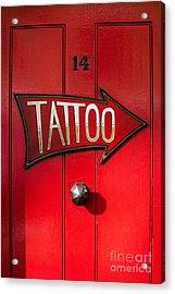 Tattoo Door Acrylic Print
