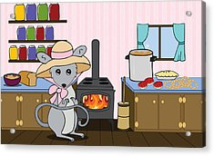 Tatty's Kitchen Acrylic Print by Christy Beckwith