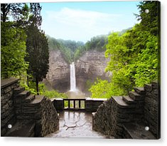 Taughannock Falls Acrylic Print by Jessica Jenney