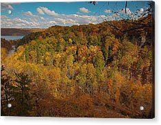 Acrylic Print featuring the photograph Taughannock River Canyon In Colorful Fall Ithaca New York II by Paul Ge