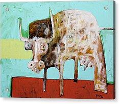 Taurus No 5 Acrylic Print by Mark M  Mellon