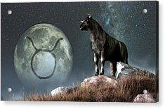 Taurus Zodiac Symbol Acrylic Print by Daniel Eskridge