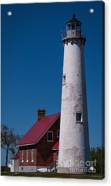 Acrylic Print featuring the photograph Tawas Point Lighthouse by Patrick Shupert