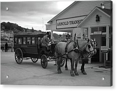 Taxi 10416 Acrylic Print by Guy Whiteley