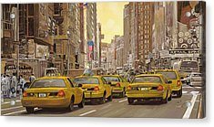taxi a New York Acrylic Print by Guido Borelli