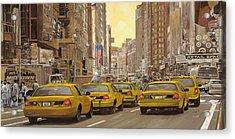 taxi a New York Acrylic Print