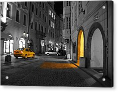 Taxi Acrylic Print by Brendan Quinn