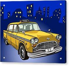 Taxi Cab Acrylic Print by Volodymyr Horbovyy