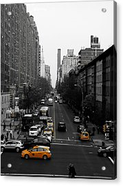 Taxi Cab Yellow Acrylic Print by Jessica Stiles