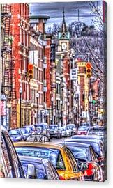 Taxi Acrylic Print by Daniel Sheldon