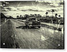 Taxi Havana Acrylic Print