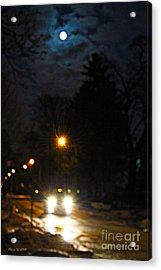 Acrylic Print featuring the photograph Taxi In Full Moon by Nina Silver