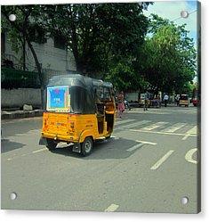 Taxi India Style Acrylic Print by Carolyn Ricks