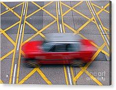 Taxi Acrylic Print by Lars Ruecker