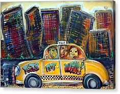 Taxi Acrylic Print by Laura Barbosa
