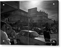 Taxi Point Acrylic Print by Candido Salghero