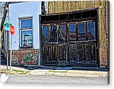 Taxi Stand Acrylic Print by Mike Martin