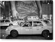Taxis On Fifth Avenue Acrylic Print