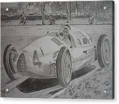 Tazio Nuvolari Acrylic Print by Jose Mendez