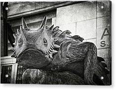 Tcu Horned Frog 2014 Acrylic Print by Joan Carroll