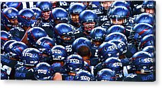 Tcu Horned Frogs Acrylic Print by John Babis